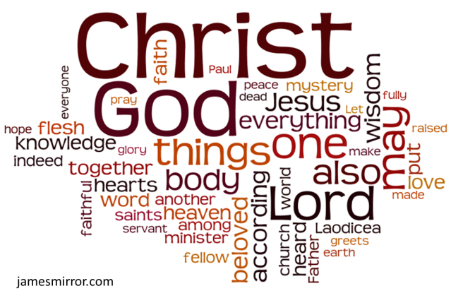 Colossians Wordle